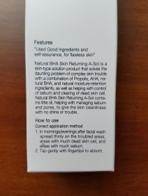 Side 1: product description and instructions