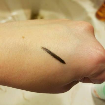 Tarte eyeliner on skin